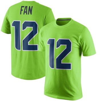 VZ VARE ZANE Official Men's Seattle 12 FAN Jerseys T-Shirt Seahawks Color Rush Player Pride Name & Number Jerseys T-Shirt