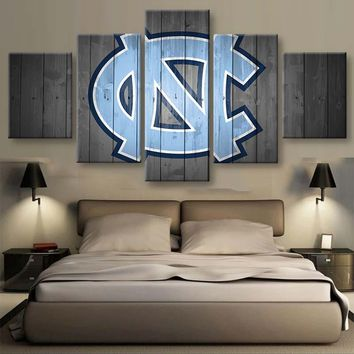 North Carolina Tar Heels Basketball  Wall Art on Canvas Picture Print