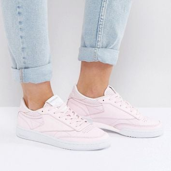 Reebok Classic Club C Trainers In Pastel Pink at asos.com