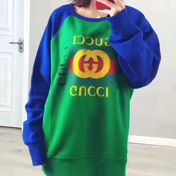 4fd86fe43d7 GUCCI 2018 Spring Women s Fashionable Round Neck Sweater F-G-JGY