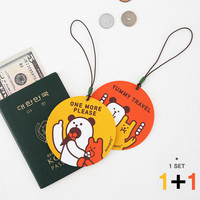 Monopoly Cute illustration travel luggage name tag ver.3