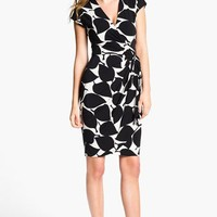 Maggy London Print Jersey Wrap Dress | Nordstrom
