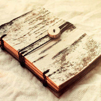 Halloween Fantasy Pagan Forest Witch Rustic Wood Journal Spellbook