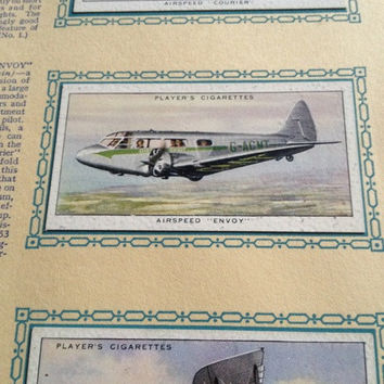 Album of AEROPLANES CIVIL cigarette cards book John Player and Sons, 1935, IMPERIAL tobacco company, book no. 9590