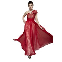Chicirl Women's Formal Bridemaid Gown Christmas Party Evening Dress, Red