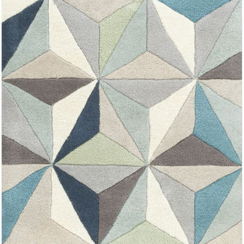 Surya OAS1097 Oasis Gray, Blue Runner Area Rug