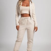 johanna zip through cropped loopback hoodie - Google Search