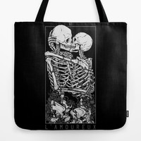 The Lovers Tote Bag by deniart