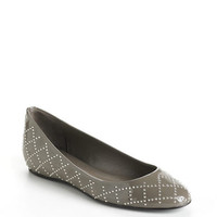 Delman Cache Studded Patent Leather Flats