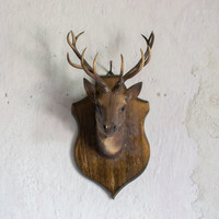 Vintage 1970 Faux Taxidermy Deer Trophy Mount // Cabin Wall Decor  // Cruelty Free