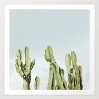 Cactus and sky Art Print by Guido Montañés