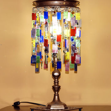 Whimsical Gypsy Boho Table Lamp One Of A Kind