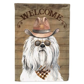 Shih Tzu Country Dog Flag Canvas House Size CK6326CHF
