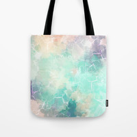 Colorful Marble Texture Tote Bag by Smyrna