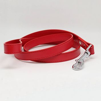 Red dog Leash, Pet Wedding accessory, Red Leather leash, Dog Lovers, Dog Leash, Custom Red leash