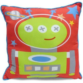 Mainstays Kids' Decorative Pillow, Space Alien Red Standard