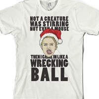 Wrecking X-Mas-Unisex White T-Shirt