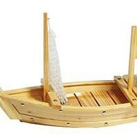 """Japanese Knives And Restaurant Supplies: Wooden Sushi Boat 26"""""""