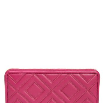 Tory Burch Louisa Embossed Lambskin Leather Continental Wallet | Nordstrom