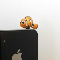 Cute Funny Big Eyes Clownfish Anti Dust Plug   35mm by Polaris798