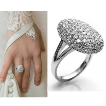 New Fashion Women Silver Crystal Rhinestone Ring Wedding Engagement Gift Jewelry 5Size = 1932778116