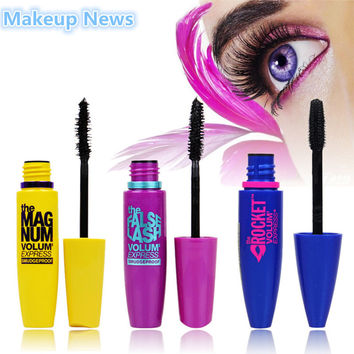 Hot 3 pcs. / Lot cosmetic brand waterproof mascara fiber mascara colossal volume express black eye