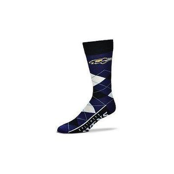NFL Baltimore Ravens Argyle Unisex Crew Cut Socks - One Size Fits Most