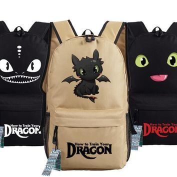 Dragon Master How to Train Your Dragon Aberdeen Cosplay Backpack School Computer Bag Gift Xmas