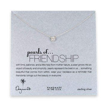 Dogeared, Pearls of Friendship White Pearl Necklace, Sterling Silver 16 inch