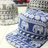 New Printing Elephant kateboard Baseball Hats Men/Women's Leisure Hat Dancer Caps Snapback Outdoor Sun Hats