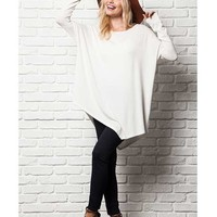 ERIKA ASYMMETRICAL LONG SLEEVE TOP