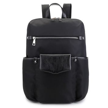 Casual Backpack Korean Leather Travel Bags [6542367427]