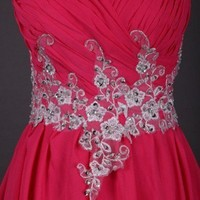 Gorgeous Appliques A-line Sweetheart Sweep Train Prom Dress
