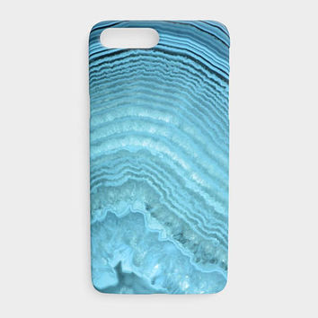 Blue Agate Phone Case, Blue Crystal Geode Phone Case, Blue Abstract Protective Phone Case for the Apple iPhone and Samsung Galaxy Devices