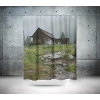 Abandoned Cabin in Colorado Shower Curtain