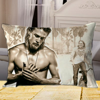 New Charlie Hunnam Sexy Photo  on rectangle pillow cover 26inch 30inch 36inch