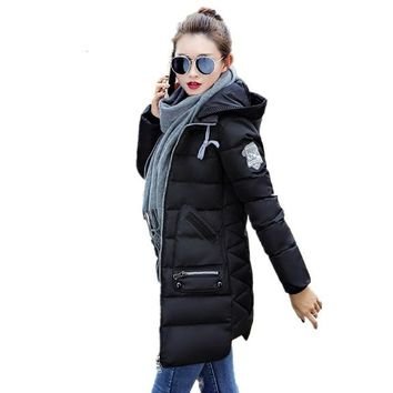 New Fashion Hooded Slim Winter Jacket For Women