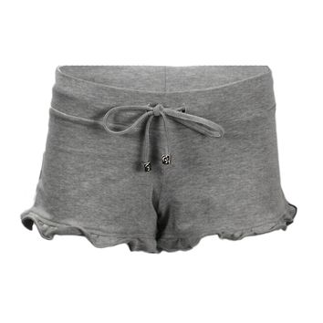 Ruffled Shorts in Grey