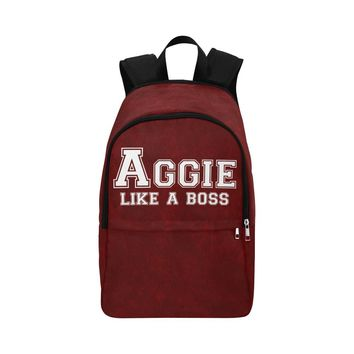 """College Station University """"Like a Boss"""" Backpack - Maroon"""