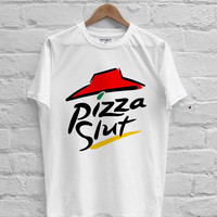 Pizza slut parody pizza hut T-shirt Men, Women Youth and Toddler