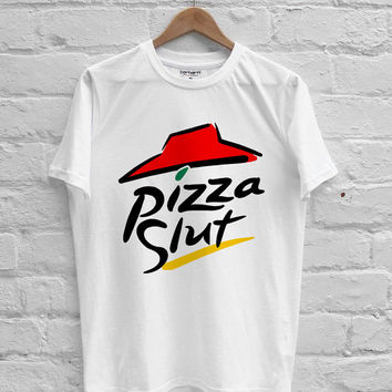 pizza slut parody pizza hut T-shirt Men, Women, Youth and Toddler