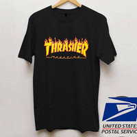 Thrasher Fire Magazine T shirt Unisex adult mens t shirt and women t shrt