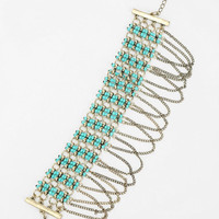 Beaded Fringe Long Necklace - Urban Outfitters