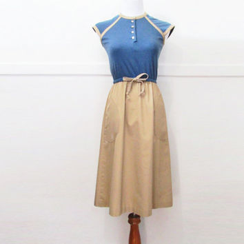 Vintage 70s Dress Vicky Vaughn Juniors XS