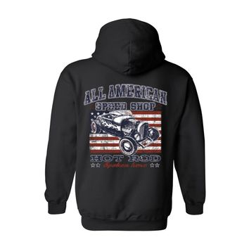 Men's/Unisex Zip-Up Hoodie ALL AMERICAN SPEED SHOP