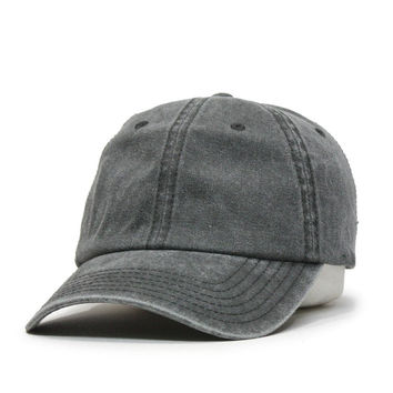 Vintage Washed Cotton Twill Baseball Cap