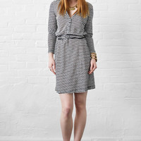Joie January Belted Dress in Porcelain Caviar Stripes