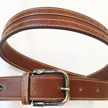 NOVO5 Woman's Vintage Gucci brown leather belt