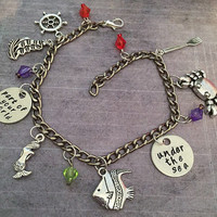 Under The Sea / Part Of Your World Charm Bracelet - Fairytale Jewelry - Once Upon A Time Jewelry - Princess Jewelry -Mermaid Jewelry - Ariel