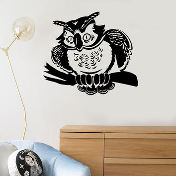 Wall Stickers Vinyl Decal Owl Bird For Kids Room Decor Unique Gift (ig124)